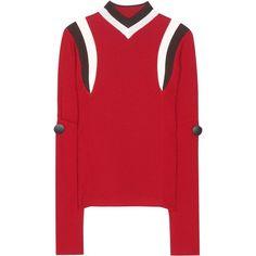 Marni Wool Sweater (65.350 RUB) ❤ liked on Polyvore featuring tops, sweaters, marni, red, wool sweaters, marni sweater, woolen sweater, wool tops and red top