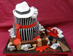 Italian Mafia Gangster Cake! Fuhgeddaboutit!