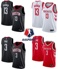 05a328d30d7 Camisa Houston Rockets - 13 James Harden - 3 Chris Paul - 7 Carmelo Anthony