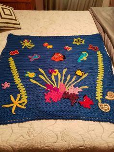 crocheted nemo blanket by corinna