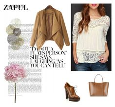 """""""http://www.zaful.com/openwork-lace-hook-chiffon-blouse-p_102522.html?lkid=2989    http://www.zaful.com/turn-down-collar-solid-color-asymmetrical-coat-p_97785.html?lkid=2989"""" by goldenhour ❤ liked on Polyvore featuring Ralph Lauren, Dolce&Gabbana and Universal Lighting and Decor"""
