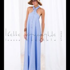 Maxi jumpsuit Maxi 100% cotton jump suit from Greek designer Ioanna kourbela. Worn twice. Not for women with big breast unless worn with a strapless top. For eccentric appearances. Ioanna Kourbela Dresses