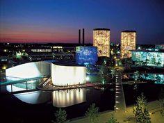 Wolfsburg bei Nacht © Autostadt