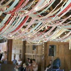 ribbons and twinkly lights :)