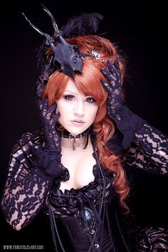 ~Is it a Doll?~ von BeliaMadHatter for this Victorian Goth girl