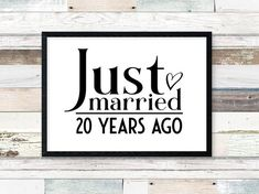 Digital prints Just Married 10 years ago anniversary decorations Anni . Digital prints just 10 years ago anniversary decorations Anniversary celebration decorations annive 20th Anniversary Wedding, 25 Year Anniversary Gift, Anniversary Pictures, Anniversary Parties, Anniversary Ideas, 25th Anniversary Quotes, Anniversary Party Decorations, Anniversary Centerpieces, Just Married