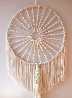 how to make a circular macrame wall hanging | by apairandaspare