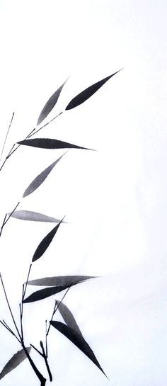 Chinese Ink Bamboo - OMG i hated this when we had to practice this in class! Japanese Painting, Chinese Painting, Chinese Art, Japanese Art, Chinese Brush, Chinese Bamboo, Sumi E Painting, Bamboo Tattoo, Tinta China