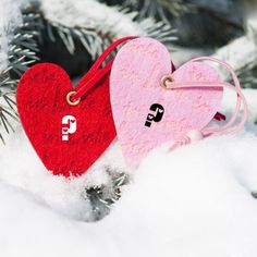 Write Your Alphabet On Couple Hearted Shape Online.