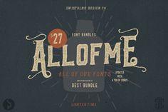 Check out Allofme Font Bundles by Swistblnk Design Co on Creative Market