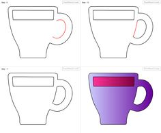 How To Draw Cup For Kids Step By Drawing Tutorial
