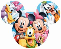 Tenyo Japan Puzzle Disney Mickey Minnie & Friends Teile) - New Ideas Mickey Mouse Clubhouse, Arte Do Mickey Mouse, Mickey Mouse And Friends, Mickey Mouse Birthday, Minnie Mouse, Elmo Birthday, Mickey Head, Dinosaur Birthday, Mickey Mouse Wallpaper