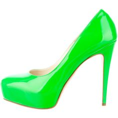 Pre-owned Brian Atwood Pumps ($130) ❤ liked on Polyvore featuring shoes, pumps, heels, green, brian atwood pumps, green shoes, brian atwood, green pumps and heel pump