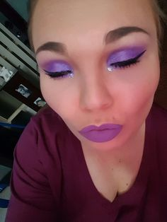 jeffery star lips  purple eyes  and younique face