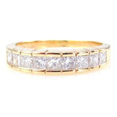 Estate 1.01ctw Channel Set Diamond Wedding/ Anniversary Band in 14KY Gold| FJ OA