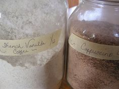 Homemade Cappuccino Mix And French Vanilla Coffee Mix
