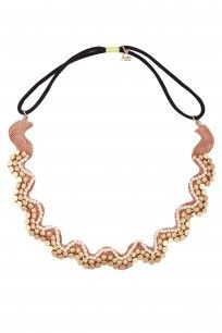 Brown Metal Beads Elasticated Spiral Head Wrap #hairdramacompany #perniaspopupshop #accesories #new #shopnow #happyshopping