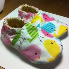 Spring Birds Soft Baby Shoes 1218 Months by DotsDelights on Etsy, $16.00