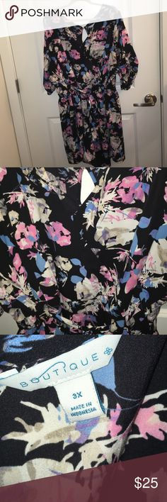 3x  Floral Romper Ashley Tipton Boutique+ Worn twice. In excellent condition Ashley Nell Tipton Dresses