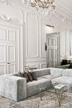White Panelled Walls at Soho House Istanbul | Winter Whites