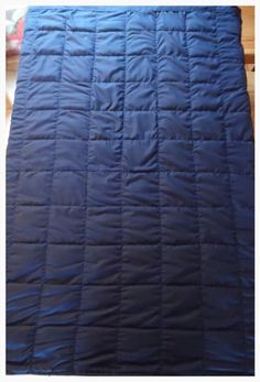 Sound o sleep weighted blanket .  Struggle with sleeping then try one of these .  Always best to consult your doctor or Occupational therapist before purchasing.  There filled with poly pellet beads to weigh 10% of your body weight .  Www.facebook.com/Thescreenlean