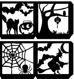 Four Sided Halloween Lantern SVG
