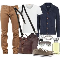 """Trousers and Stretch Brace for men"" by marta-cercols on Polyvore"
