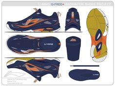 Li Ning Shoes, Sneakers Sketch, Badminton Shoes, Shoe Sketches, Tech Pack, Shoes Sneakers, Sneakers Design, Sports Shoes, Designer Shoes