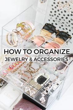 How To Organize Your Jewelry and Accessories. Jewelry Organization. Acrylic…