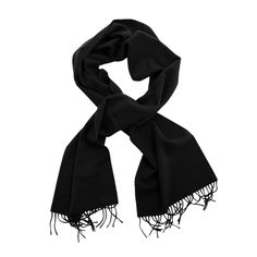 Joshua Ellis black cashmere scarf  ( art.902 ), $119