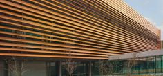 Perforated aluminium solar shading / facade THE VENDESPACE by Paul Chemetov RMIG