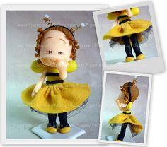 Manú abelhinha by Biscuit da Pati, via Flickr