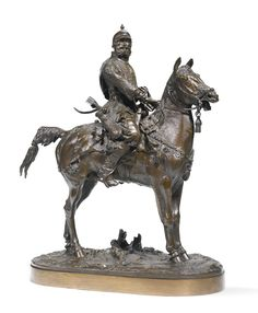 A Voivode (Boyar Morozov) after a design by Evgeny Lanceray with signature and foundry mark -- Sotheby's Horse Sculpture, Animal Sculptures, Bronze Sculpture, Russian Folk, Russian Art, Equine Art, Animal Skulls, Horse Art, Indian Art