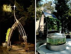 inka sun curve: closed loop hydroponic system. The fish poop feeds the plants; the solar panel and wind turbine circulate the water. You harvest the yummy greens.