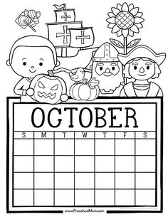 Free set of Calendar for students to Write and Color. This set is super cute and features monthly themes and holidays. Perfect for Preschool Daily Caledar Student Calendar, Kindergarten Calendar, Free Monthly Calendar, Preschool Calendar, October Calendar, Cute Calendar, Kids Calendar, Free Printable Calendar, Calendar Pages