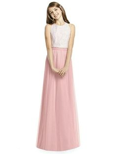 Dessy Collection Junior Bridesmaid JRS537 - Rose - PANTONE Rose Quartz | The Dessy Group