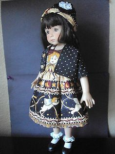 """'I LOVE CUPID"""" DRESS SET FOR EFFNER LITTLE DARLING/14""""BETSY McCALL BY CGREYROMA"""