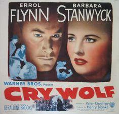 CRY WOLF  (1947)  Original six sheet size, 81x81 movie poster.