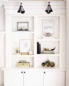 Shelf styling, bookcases, built-ins, family room ideas bookcase styling, bo Bookshelf Styling, Bookshelves Built In, Bookcases, Classic Bookshelves, Bookshelf Decorating, Traditional Bookshelves, Built In Shelves Living Room, Bookshelf Lighting, Library Lighting