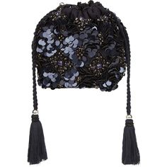 Accessorize Beaded Pouch Clutch Bag ($59) ❤ liked on Polyvore featuring bags, handbags, clutches, metallic handbags, sequin clutches, beaded purse, sequin purse and over the shoulder handbags