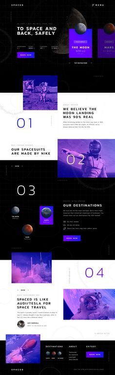 SPACED Challenge on Behance #WebSiteDesign