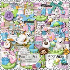 After Five Designs :: Full Kits :: Pea in a Pod, by Kristin Aagard Scrapbooking Freebies, Free Digital Scrapbooking, Digital Scrapbook Paper, Baby Scrapbook, Digital Papers, Cute Scrapbooks, 1st Birthday Pictures, Printable Scrapbook Paper, Baby Kit