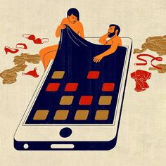 joey guidone | bostonglobe, AD: Jane Martin #smartphone #illustration #italian #picame