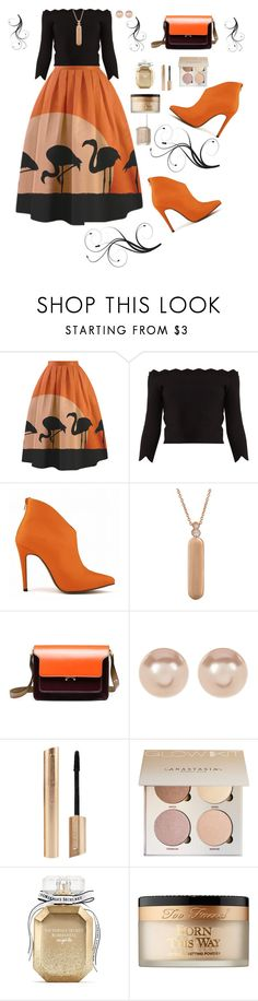 """""""Untitled #76"""" by woodfolk57 ❤ liked on Polyvore featuring Alexander McQueen, My Story, Marni, Nordstrom Rack, Victoria's Secret, Too Faced Cosmetics and Essie"""