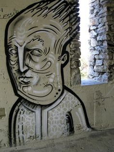 Wall art in a tunnel on the Via Del Amore walk in the Cinque Terre, Italy.