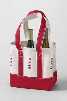 6 BOTTLE WINE Tote FREE Embroidery Personalization Included on Etsy, $29.99