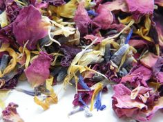 Hand mixed real confetti petals with dried roses by DaisyShopUK