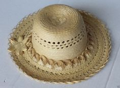 #women hat women straw hat size L (58) natural palm straw made in Guatemala  (009) withing our EBAY store at  http://stores.ebay.com/esquirestore