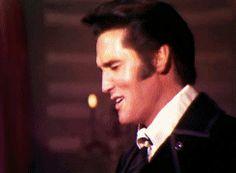 ELVIS' LAUGHTER<3 (Elvis on set of '68 Comeback Special - blooper moment)