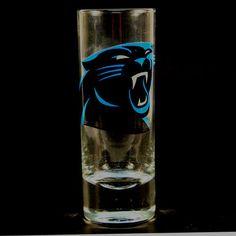 "Carolina Panthers NFL ""Hype"" Tall Shot Glass  #HunterMFG #CarolinaPanthers"